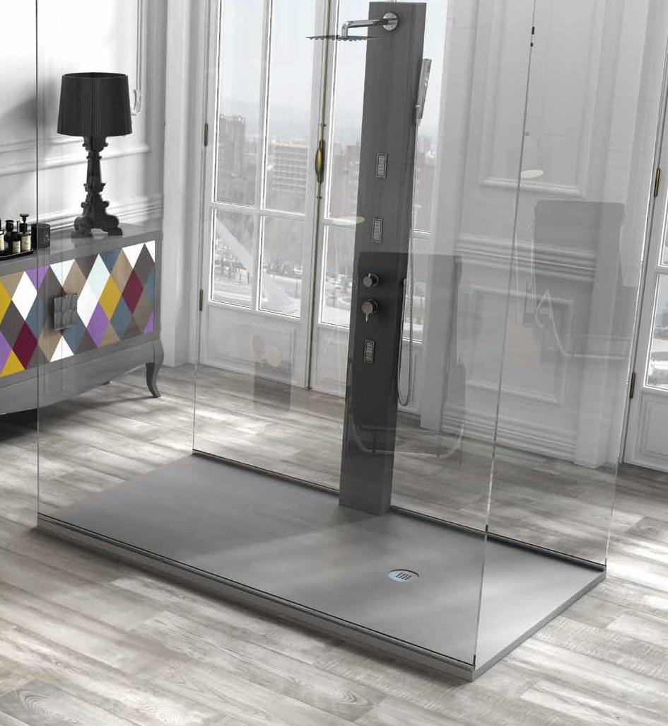 receveur de douche anthracite ac800. Black Bedroom Furniture Sets. Home Design Ideas